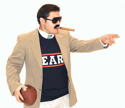 Adult Comedy TV Show SNL NFL Football Da Bears Chicago Fan Costume Sweater Vest
