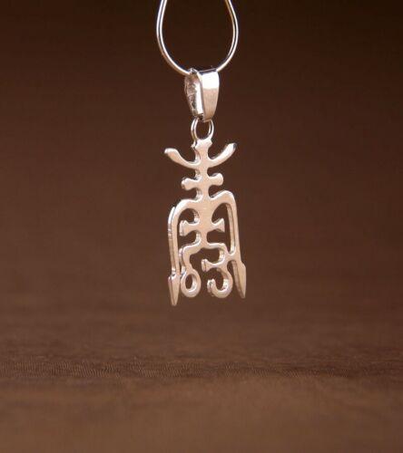 Chinesisches Zeichen für Langlebigkeit Anhänger Symbol Amulett Silber 925 2 cm