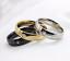 Anello-Anelli-Fede-Fedina-Uomo-Donna-Unisex-Acciaio-Cristallo-Fidanzamento-Love miniatura 2