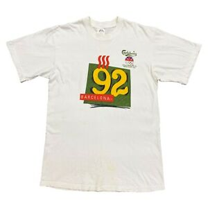Carlsberg-britischen-Olympiateam-Sponsor-Barcelona-92-Tshirt-Vintage-90s-Sport