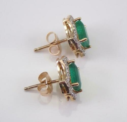 Details about  /1.30CT Emerald Cut Green Emerald 14K Yellow Gold Over Women/'s Exclusive Earrings