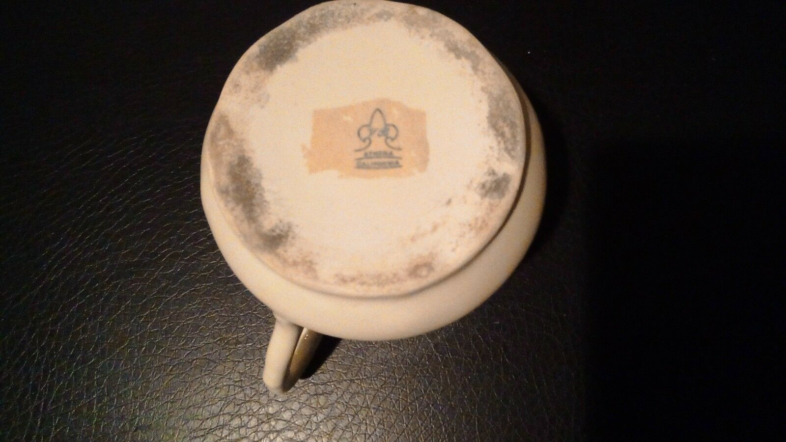 Vintage Athena California Floral Ceramic Toothbrush and Toothpaste Holder