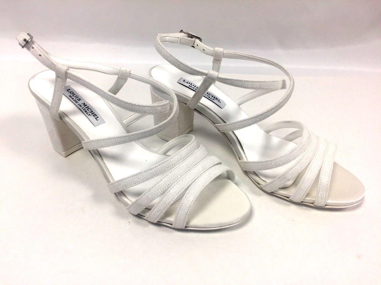 Escarpins white paillettes Louis Michel size 39 FR  8 US