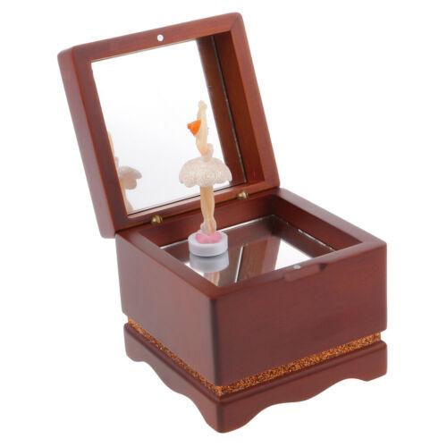 Vintage Musikspieldose Spieluhr Tanzmädchen Musikwerk Music Box Dekoration