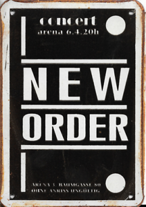 20x30cm NEW ORDER CONCERT RUSTY MUSIC TIN SIGNS