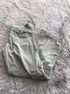 Kuhl-Sage-Green-100-Cotton-Mid-Rise-Outdoor-Hiking-Cargo-Pants-Women-s-M