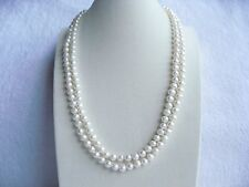 "47"" 120cm AAA Long 8mm Real White Freshwater Pearl Necklace Gifts RRP £100 Plus"