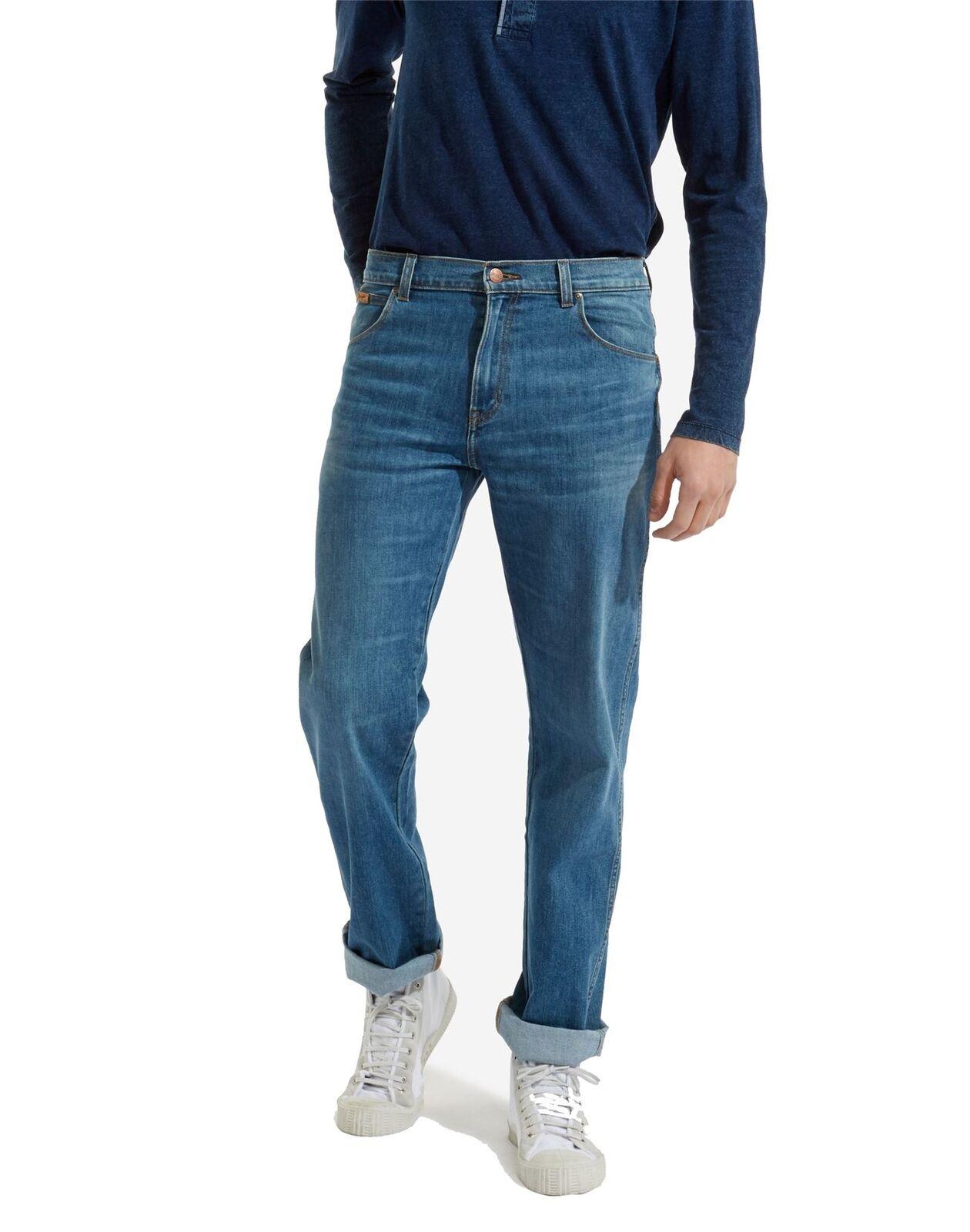 Wrangelr Mens Texas Stretch Volcano Thermolite Jeans
