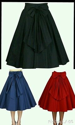 skirt vintage retro swing rockabilly flared flare 50s 1950s s uk full circle