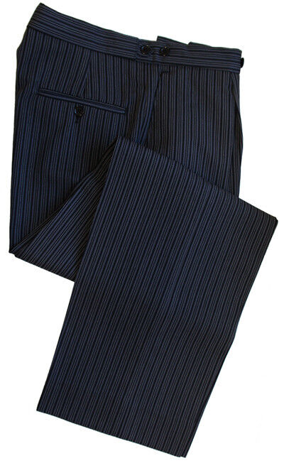 Poly-Wool Morning Stripe Trousers Waist 34  Inside Leg 32