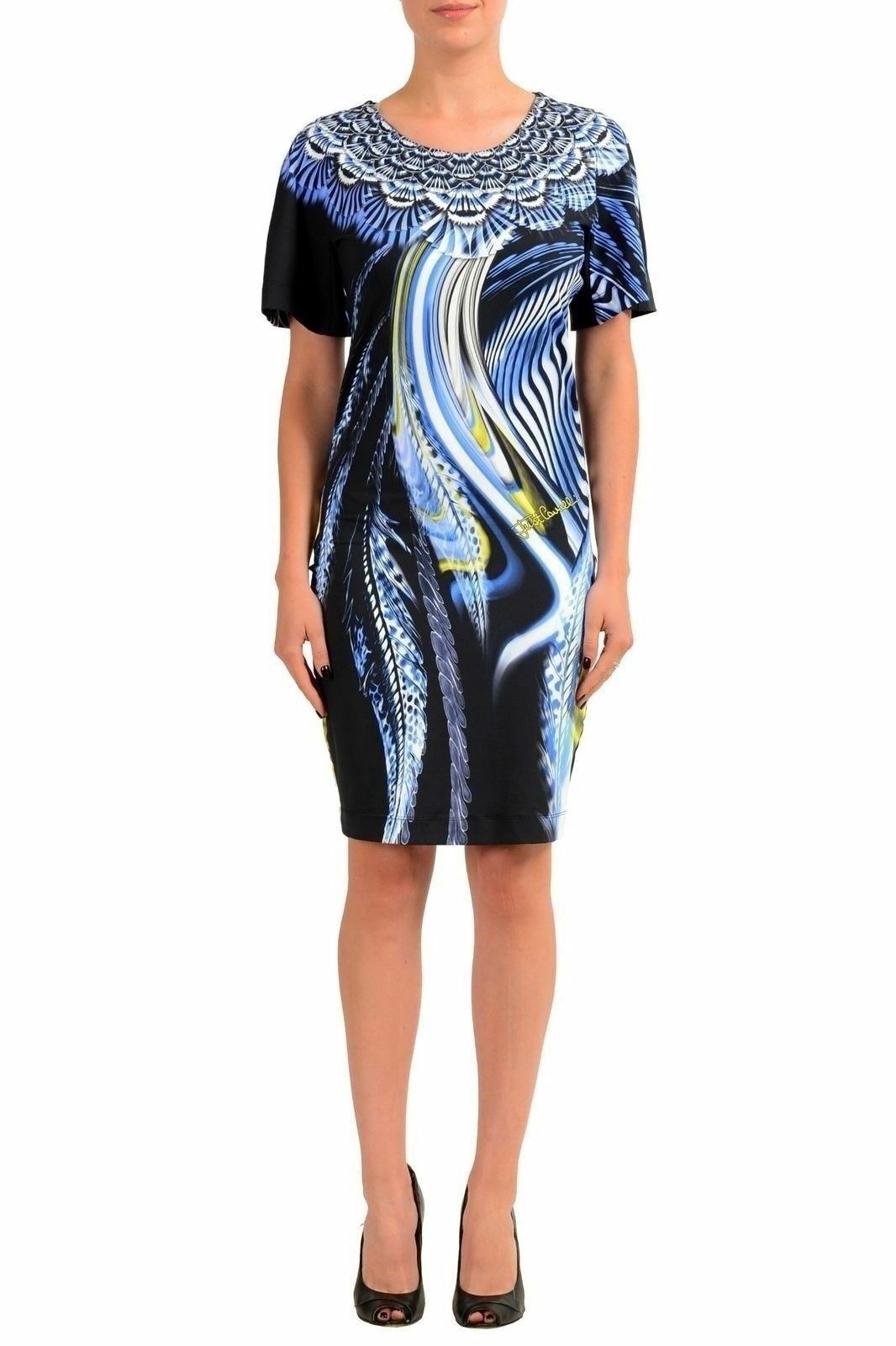 Just Cavalli Women's Graphic Short Sleeve Sleeve Sleeve Sheath Dress US 4 IT 40 73e24a