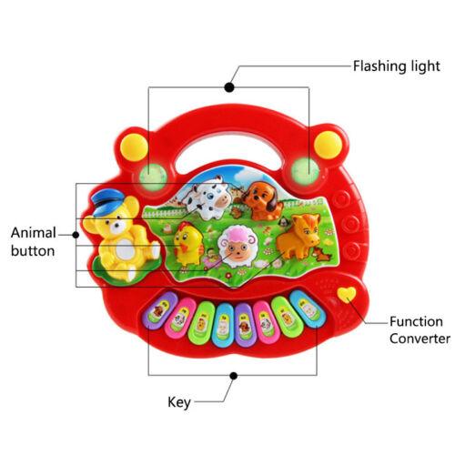 Baby Kids Animal Farm Educational Development Toy Musical Piano Music Gifts UK