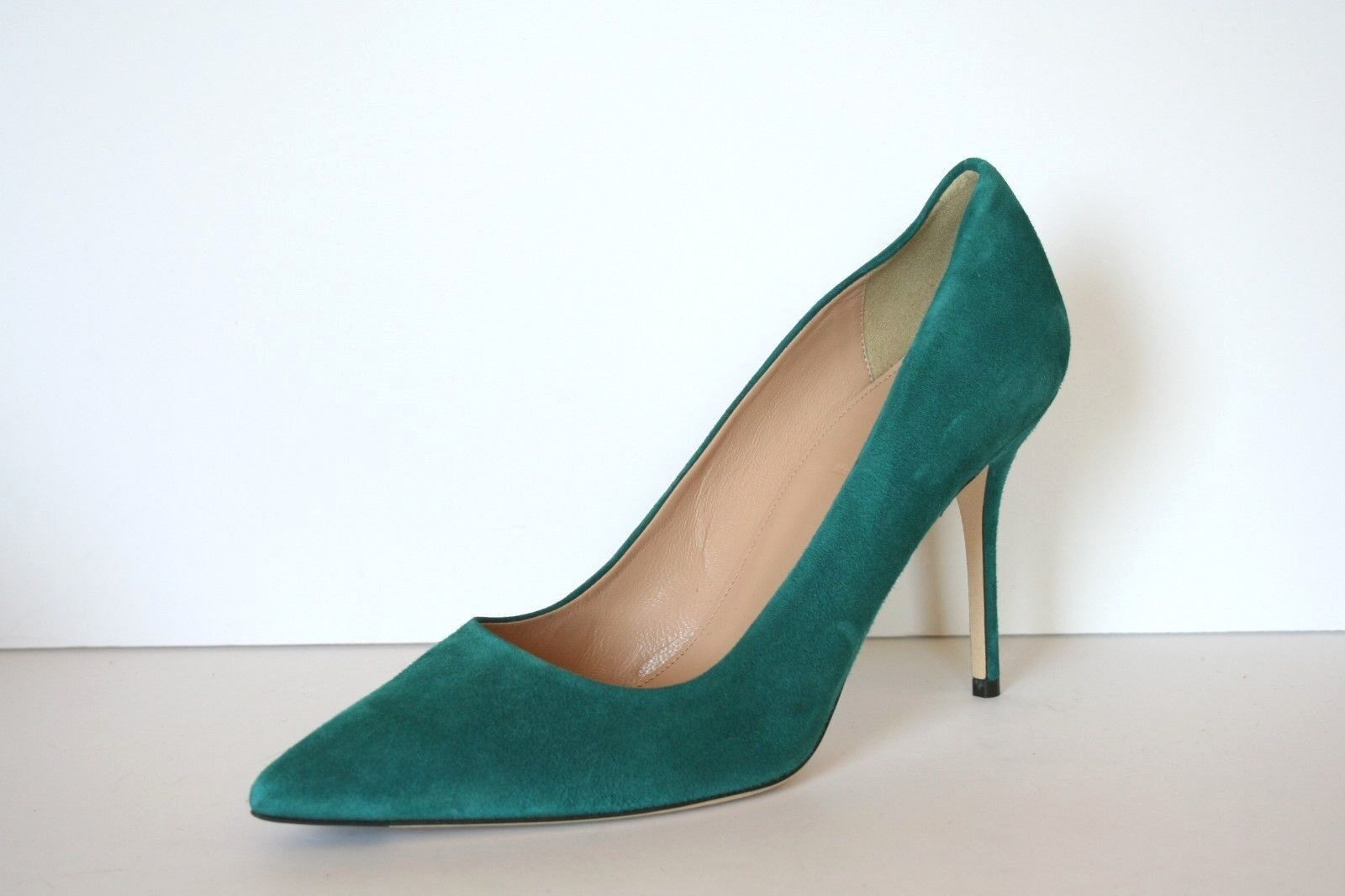 JCrew Elsie Suede Pumps 9 High-Heels Vivid Jade Green E4969  245