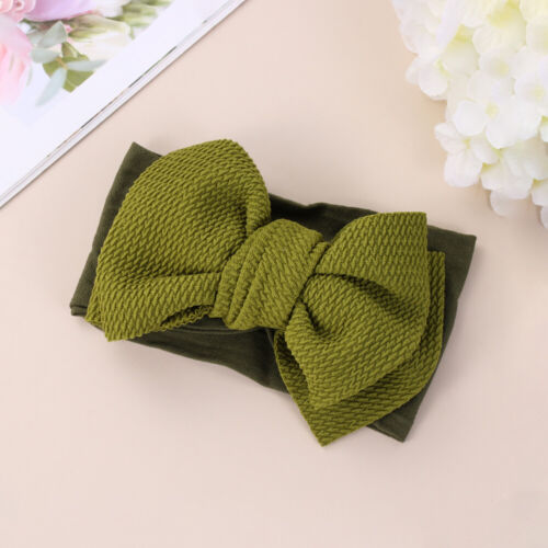 Toddler Baby Girl Soft Corn Hair Band Kids Solid Color Bow Headband Headwear