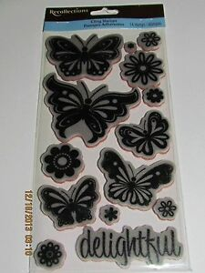 Recollections-Cling-Stamps-Choose-Theme-Baby-Baby-Animals-Butterflies-Heritage