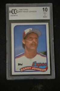 Details About 1989 Topps Randy Johnson 647 Rc Rookie Card Bccg 10 Mint Or Better