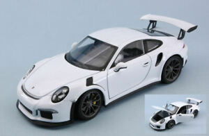 Model Car Scale 1:24 diecast Welly Porsche 911 991 GT3 Rs vehicles Coche