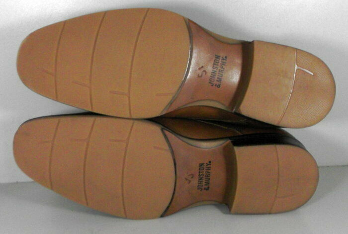 20NP112205 SP50 Men's Shoes Size 9 M Brown Leather Lace Up Johnston & Murphy