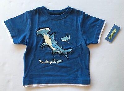 Gymboree SHARK PATROL Blue Hammerhead Shark Attack Top Shirt NWT 3 5 Boys Spring
