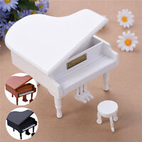Miniature Piano With Bow Musical Instrument Ornament Musical Boxed Dolls House