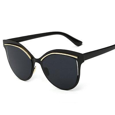 Fashion Women's Retro Cat Eye Designer Mirrored Sunglasses Shade Glasses Eyewear
