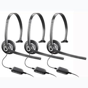 5-Pack Plantronics M214C Over the Head Mono Corded Headset 69056-11