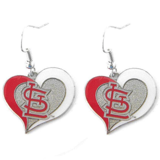 4d6512cd Arizona Cardinals Heart Earring Dangle Set Logo Charm Jewelry NFL Ear  Pendant