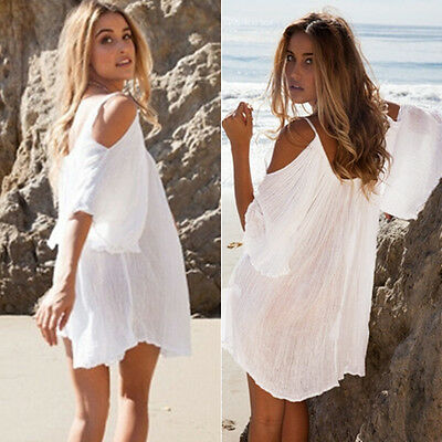 Womens Swimwear Beachwear Bikini Beach Wear Cover Up Kaftan Ladies Summer Dress