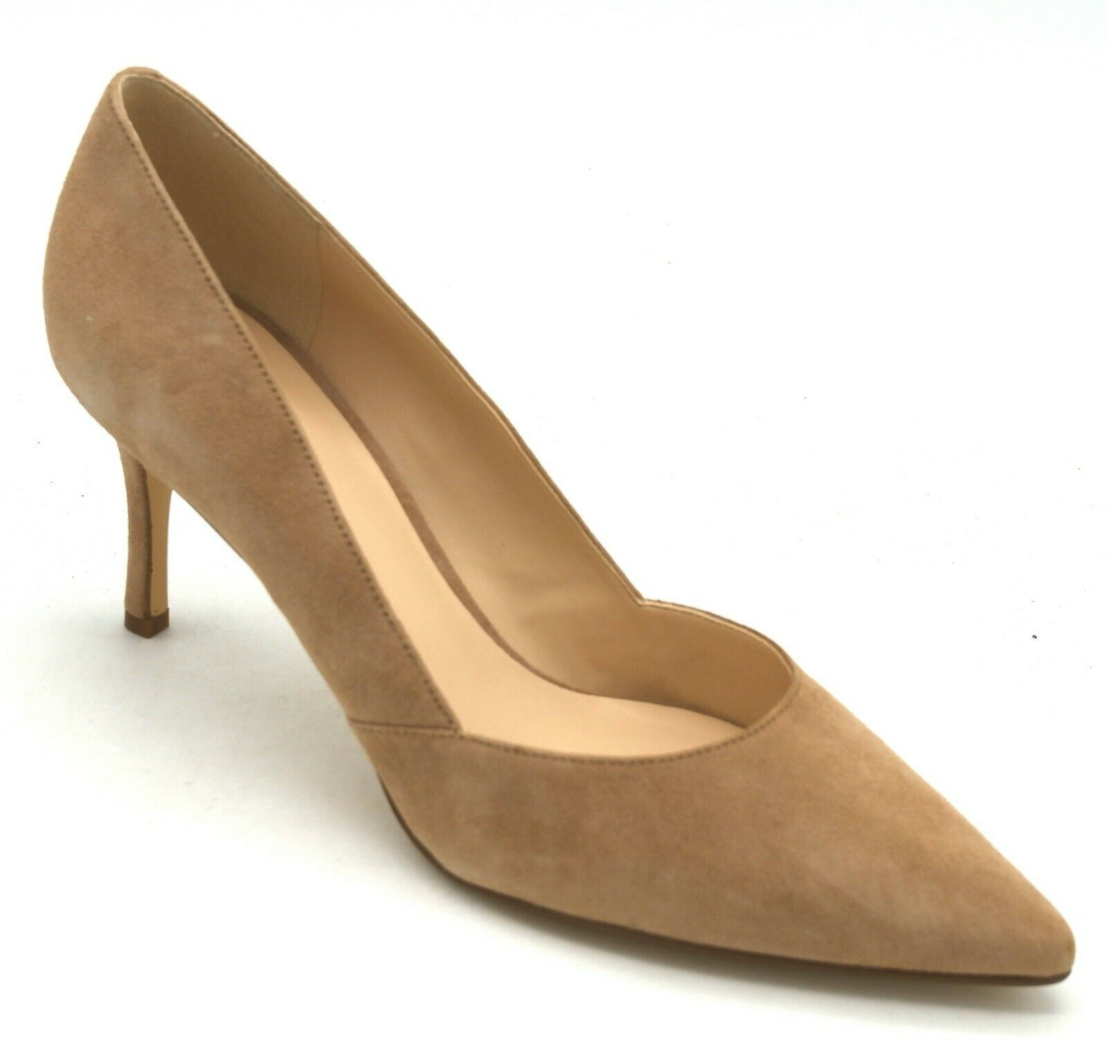 J8158 New Women's Nine West Mine Natural Suede Pointy Toe Heel 8.5 M