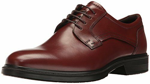 ECCO Lisbon Plain Mens Formal Lace up Shoes Cognac 8   42  914083c211
