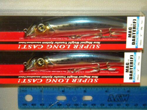 """Yo-zuri Mag Darter 5/"""" Shallow Diving Striper Muskie Lure R1144-CIW Sardine Lot 2"""