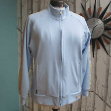 Adidas Climalite Tracksuit Top Jacket Sky Blue Orange Yellow Women's Size UK 10