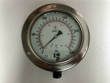 Obel Iop Marine High Pressure Hydraulic Gauge 2500 Bar 250 Mpa New