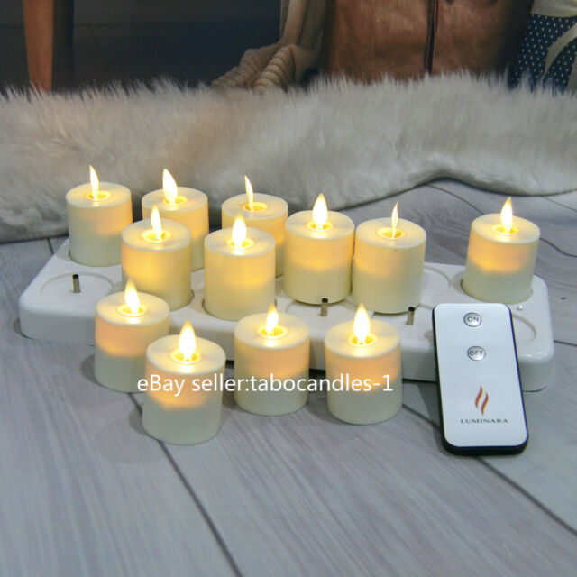 Luminara Outdoor Flameless Candle Plastic Finish Unscented Moving Flame Candles