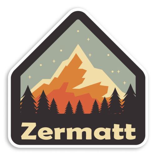 2 x 10cm Zermatt Switzerland Vinyl Stickers Ski Mountain Luggage Sticker #31176