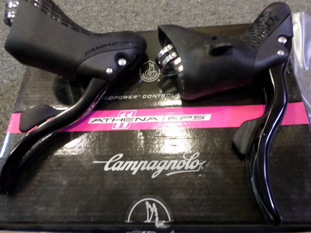 Campagnolo ATHENA EPS 11 Speed Ergopower Shift Brake Levers.NEW IN BOX+CABLES