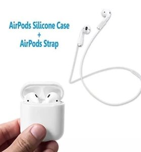 Apple-wireless-AirPods-cover-AirPods-Silicone-Skin-Case-w-Sport-Strap