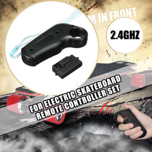2.4Ghz Mini Electric Wireless Skateboard Remote Controller Receiver Universal US