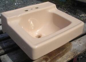 Image Is Loading Vintage 1956 Suez Tan Kohler Bathroom Sink