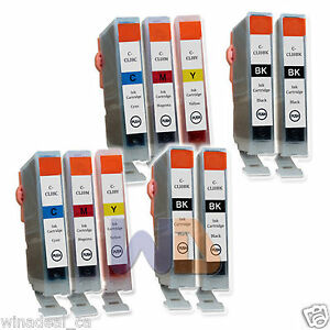 10-PACK-CLI-8-Ink-Cartridge-CLI-8-CLI8-WITH-NEW-CHIP-for-Canon-MP950-4BK-6CLR