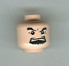 LEGO 4768 - Minifig Head, Male Black Goatee & Thick Eyebrows - Light Flesh