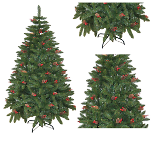 4ft-8ft Pre Decorated Artificial Christmas Tree Xmas Home ...