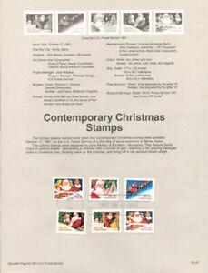 #9157 Contemporary Christmas Stamps #2579/2585a USPS Souvenir Page
