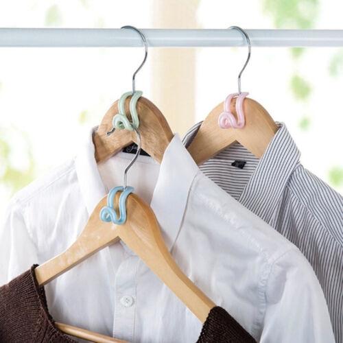 15Pcs Mini Kleiderbügel Home Easy Hook Closet Organizer Lagerregal Halter neu~