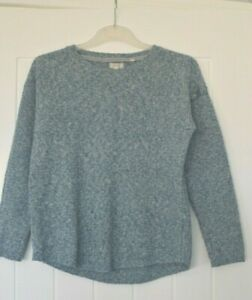 Neuf-Ex-Fat-Face-UK-Taille-10-Harpenden-Bleu-Clair-Texture-Pull-Tricot