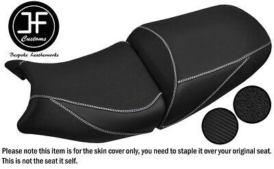 BLACK /& WHITE CUSTOM FITS SUZUKI GSF 1250 07-12 BANDIT REAR LEATHER SEAT COVER
