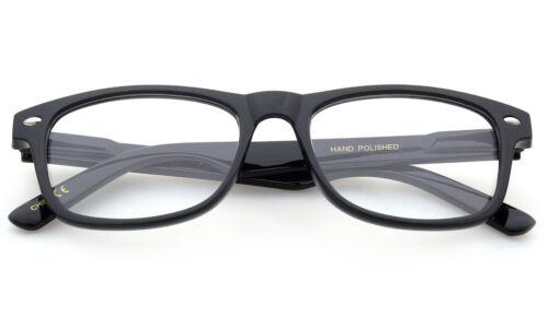 Kids Clear Lens Glasses Retro Horn Rim Junior Fake Smart Spring Hinged UV 100/%