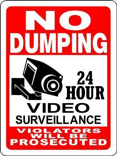 """No dumping aluminum sign 12/"""" x 18/"""""""
