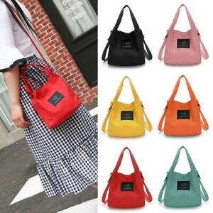 Women-039-s-Canvas-Handbag-Shoulder-Messenger-Bag-Satchel-Corlorful-Tote-Purse-Bags
