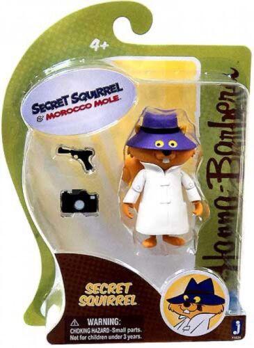 Hanna-Barbera SECRET SQUIRREL /& Maroc TAUPE SECRET SQUIRREL 3-inch Figure